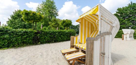 Öffnungszeiten Waldfreibad Emsdetten - Strandkorb