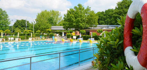 Waldfreibad Emsdetten - Blick aufs Schwimmerbecken