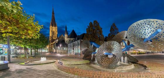 Morgentaubrunnen in der Emsdettener Innenstadt